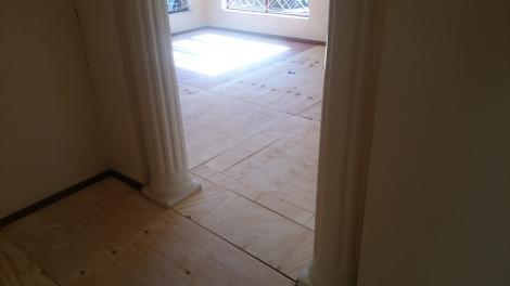 Protecting existing floor tiles