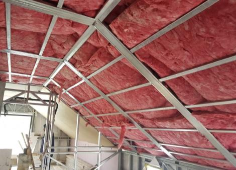 Completing insulation of walls & ceilings