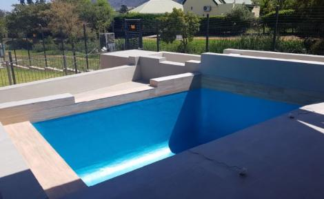 Pool ready for water